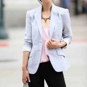 J. CREW Campbell Blazer Super 120s Wool Gray {W13}